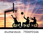 three disabled to play... | Shutterstock . vector #750693166