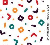 geometric seamless pattern  ... | Shutterstock .eps vector #750701725