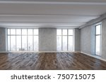 bright unfurnished room... | Shutterstock . vector #750715075