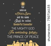 typography of bible verse from... | Shutterstock .eps vector #750716155