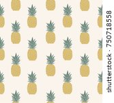 vector illustration. pineapple... | Shutterstock .eps vector #750718558