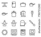 thin line icon set   table ... | Shutterstock .eps vector #750721282