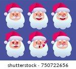 merry christmas.santa claus...   Shutterstock .eps vector #750722656