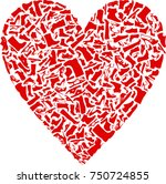 images of shoes.  heart shape.  ... | Shutterstock .eps vector #750724855