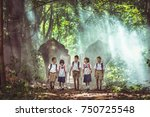 asia student children and... | Shutterstock . vector #750725548