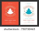 christmas party invitation... | Shutterstock .eps vector #750730465