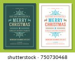 christmas party invitation... | Shutterstock .eps vector #750730468