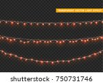 christmas lights isolated... | Shutterstock .eps vector #750731746
