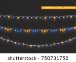 christmas lights isolated... | Shutterstock .eps vector #750731752