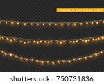 christmas lights isolated... | Shutterstock .eps vector #750731836
