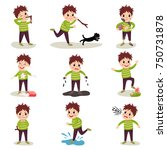 cartoon character of naughty... | Shutterstock .eps vector #750731878