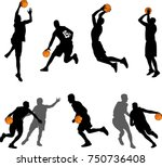 Basketball Players Silhouettes...