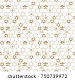 seamless vector japanese... | Shutterstock .eps vector #750739972