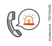 emergency call icon   Shutterstock .eps vector #750744658