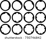 vector frames. circle for image.... | Shutterstock .eps vector #750746842