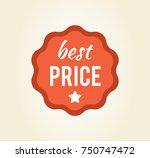 best price circular sticker... | Shutterstock .eps vector #750747472
