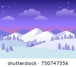colourful greeting card with... | Shutterstock .eps vector #750747556