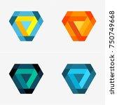 modern abstract design vector... | Shutterstock .eps vector #750749668