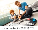 father and son compete in races ... | Shutterstock . vector #750752875