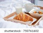 breakfast in bed   Shutterstock . vector #750761602