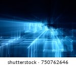 abstract blue toned background... | Shutterstock . vector #750762646