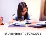 education concept and portrait... | Shutterstock . vector #750763036