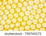 beecombs texture in the detail  ... | Shutterstock . vector #750765172