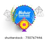 celebrate makar sankranti... | Shutterstock .eps vector #750767446