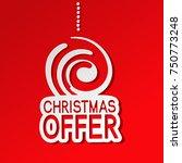 vector red paper winter sale ... | Shutterstock .eps vector #750773248