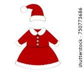 romper suit. christmas costume... | Shutterstock . vector #750773686