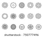 gears outline icons set | Shutterstock .eps vector #750777496