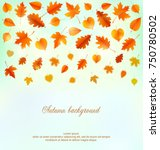 autumn background with leaves. | Shutterstock .eps vector #750780502