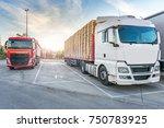 rest area for heavy trucks | Shutterstock . vector #750783925