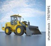 wheel loader | Shutterstock . vector #75078991