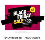 black friday sale banner layout ...   Shutterstock .eps vector #750790096