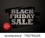 black friday sale banner layout ... | Shutterstock .eps vector #750790105