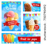 ice cream cafe poster or... | Shutterstock .eps vector #750790492