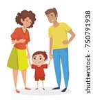happy family. little boy... | Shutterstock .eps vector #750791938
