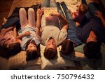 overhead view of family... | Shutterstock . vector #750796432