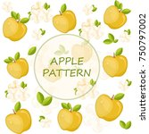apples pattern background... | Shutterstock .eps vector #750797002