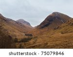 Glen Coe In Western Scotland