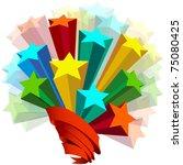ribbon around stars | Shutterstock .eps vector #75080425