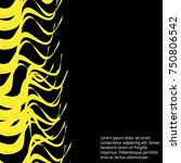 abstract black yellow stylish...   Shutterstock .eps vector #750806542