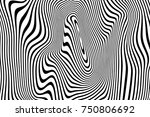 abstract pattern of wavy... | Shutterstock .eps vector #750806692