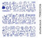 school  kindergarten. happy...   Shutterstock .eps vector #750822436