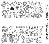 school  kindergarten. happy...   Shutterstock .eps vector #750822712