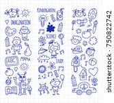 school  kindergarten. happy...   Shutterstock .eps vector #750822742