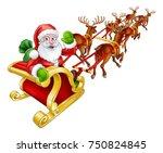 Cartoon Santa Claus And His...