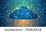 modern cloud technology.... | Shutterstock .eps vector #750826918
