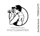 photographer with camera icon... | Shutterstock .eps vector #750831475